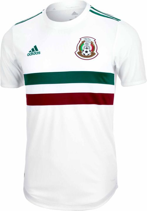cf125270dda ADIDAS MEXICO 2018 AUTHENTIC AWAY JERSEY WHITE - Soccer Plus