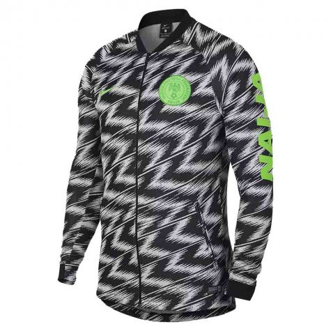 ce6a0183beb NIKE NIGERIA 2018 Anthem Jacket (White) - Soccer Plus
