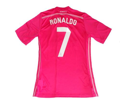 newest fc821 12d76 ADIDAS REAL MADRID 2015 `RONALDO` AWAY PINK JERSEY