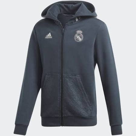 big discount aliexpress for whole family ADIDAS REAL MADRID 2019 KIDS HOODIE GREY