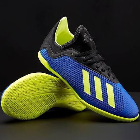 e13fdf86480 ADIDAS X TANGO 18.3 IN J BLUE SOLAR YELLOW - Soccer Plus