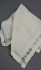 Vintage 1920s Silk Hankie, 14 x 13-1/2 inches, Antique Wedding Hankie