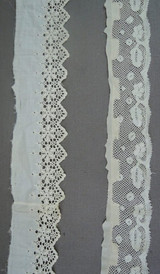 Antique Lace Remnants Victorian Dress Trims, 2 styles