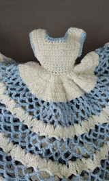 Vintage Crochet Doll Dress ,Pot Holder or Cover, Kitchen Decor