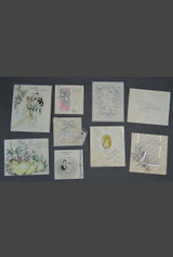 Vintage 1930s Wedding Gift Card Lot, Art Deco Bride 1937