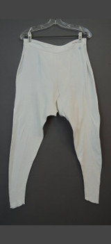 Vintage Women's Long Johns, Knit Cotton Underwear with Split Crotch, 30 inch waist, 1930s