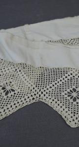 Antique Crochet Lace Trim, Victorian Remnant, Handmade 1800s
