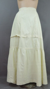 Edwardian Cream Cotton Petticoat Antique 1900s 25 inch waist Vintage Slip