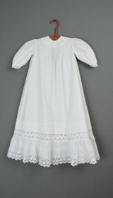 Antique Baby Dress 1900s Eyelet Trim, 24 inch Chest