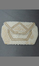Tiny Vintage Beaded Purse 1920s 1930s, Made in Belgium, with issues