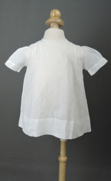 Vintage 1940s Baby Dress Hand Sewn with Embroidery, 18 inch chest