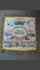 Vintage Atlantic City NJ 1940s Satin Pillow Cover with Fringe, Sweetheart, Beach Swimsuits Souvenir, unused
