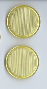 Vintage 1960s Three Large Yellow Plastic Buttons