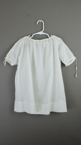 Antique Child Nightgown with Drawstring Neck, 1900s with issues