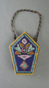 Antique 1920s Beaded Box Purse, Small, Made in Germany, some issues