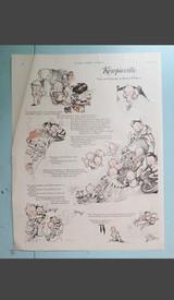 Vintage Kewpieville Rose O'Neill Kewpie Page from 1925, Kewpies & Goblins