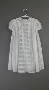 Vintage Embroidered Organdy 1930s Little Girl Dress, 27 inch chest