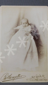 Vintage Victorian Baby Cabinet Card Photo, 1800s Photograph