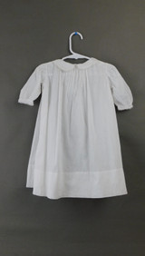 Vintage Little Girl White Cotton Dress, Open work, Tatted lace 1900s, 22 inch chest