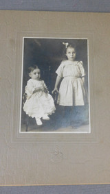 Vintage 2 Victorian Children Cabinet Card Photo, 1800s Photograph