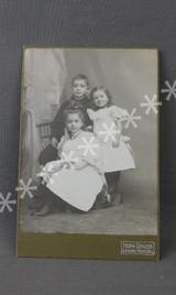 Vintage Edwardian Children Cabinet Card Photo, 1900s Photograph