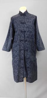 Vintage Black Cut Velvet Long Evening Jacket, 1960s, 38 inch bust