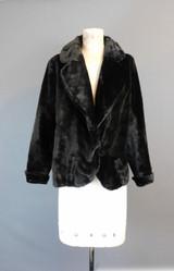 Antique Black Thick Velvet Coat 1800s 1900s, fits 38 inch bust Victorian Jacket
