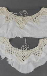 2 Vintage Crochet Lace Necklines for Lingerie, Slip Nightgown Edwardian Trim