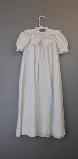 Vintage 1900s Antique Baby Infant Gown, Cotton XS 16 inch chest, Large Doll Long Dress