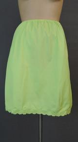 Vintage 1960s Bright Green Nylon Half Slip, Van Raalte, 24-28 waist