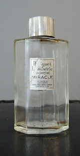 Vintage 1940s Perfume Bottle, Bouquet Lentheric Miracle 4oz