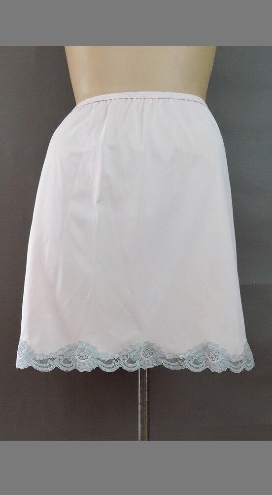 Vintage Pink Nylon Half Slip 24 to 26 inch waist, 1980s