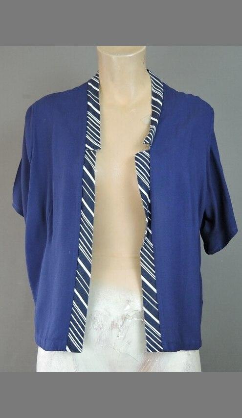 Vintage Open Front Jacket for Dress, Large fits 42 bust 1960s