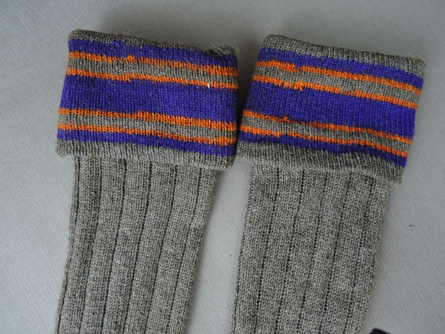 Vintage Child's 1920s Long Wools Socks, NOS size 7-1/2 inch Foot, 15 inches Long,