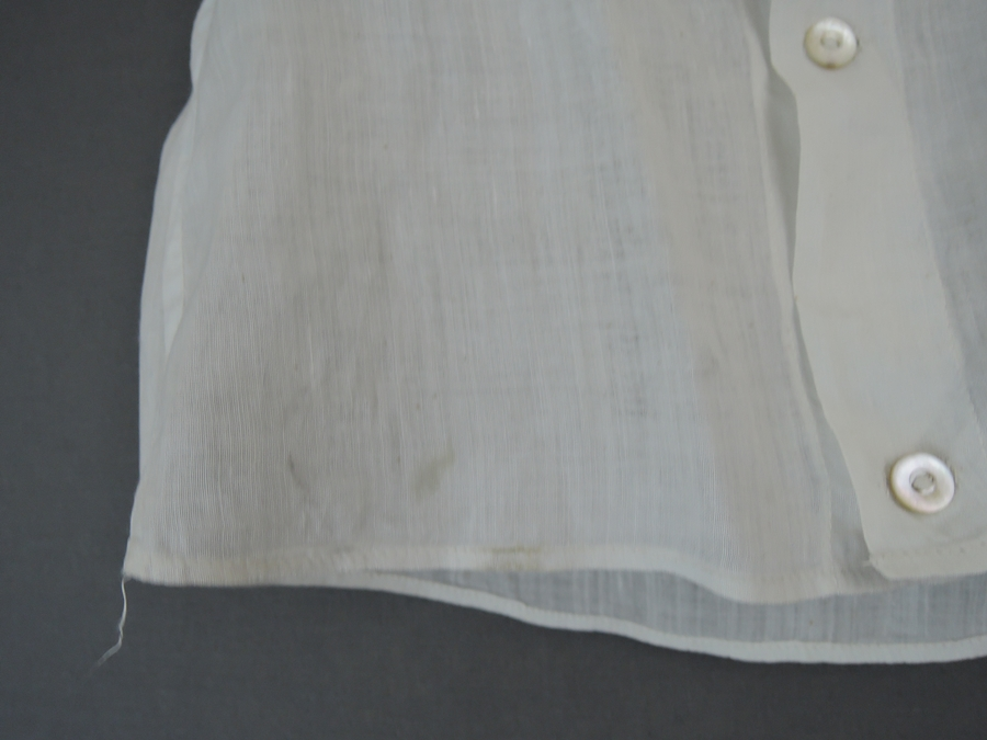 Vintage Edwardian Lace Child Shirt, 1900s White Cotton Dickie Shirt, #1