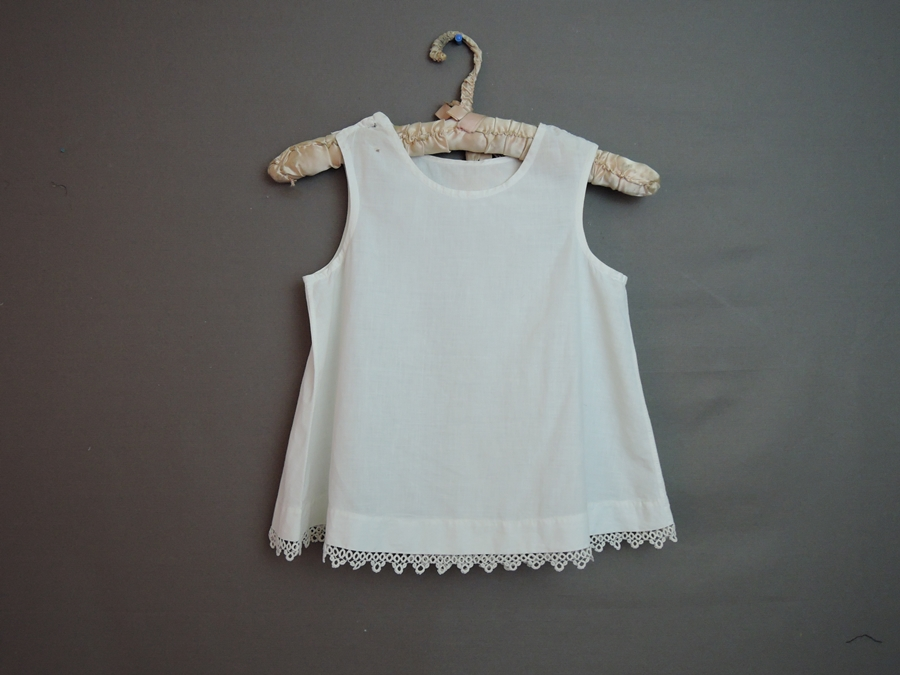 Vintage Little Girl's Cotton Dress Slip, early 1900s with Tatted Lace