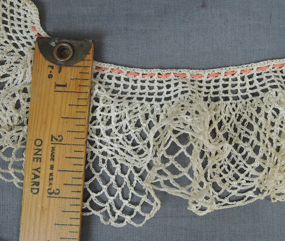 3 Vintage Lace Trims, Crochet Clothing Trim Antique Edwardian Lace Pieces