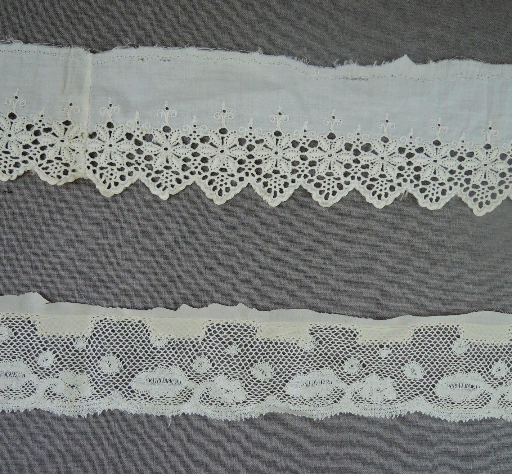 Antique Lace Remnants Victorian Dress Trims, 2 styles