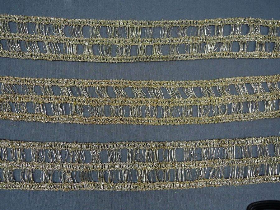2+ yards Vintage Gold Dress Trim, 2 inches wide, 1960s Sparkle