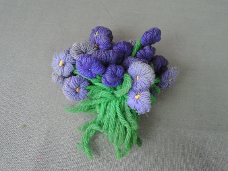 Vintage Lot of Cute Little Ribbon & Crochet Things, Flowers, Sachet, Cozy