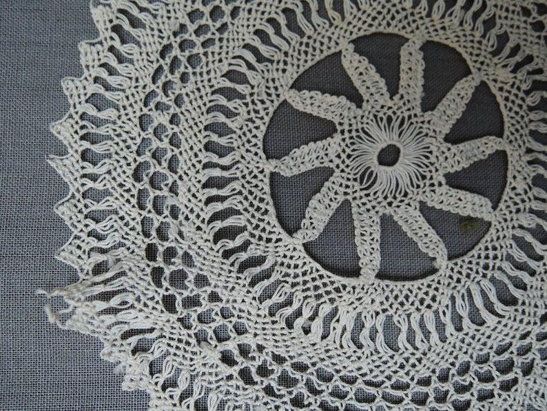 4 Handmade Lace Antique Lace Pieces, Edwardian 1900s Bobbin Lace