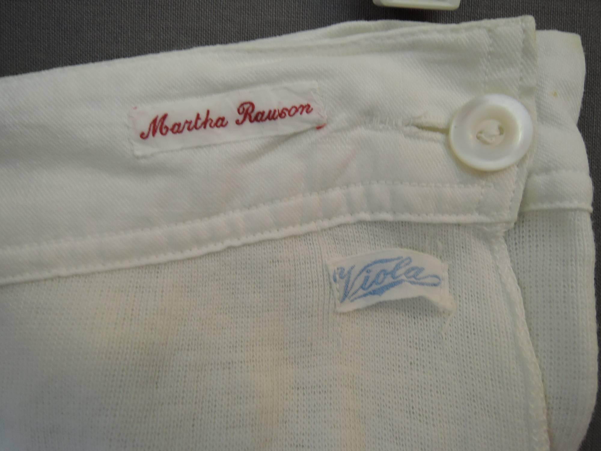 Vintage Women's Long Johns, Knit Cotton Underwear with Split Crotch, 30 inch waist, 1930s