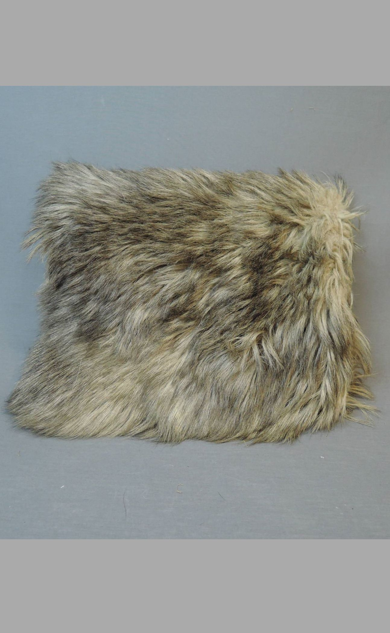 Antique Edwardian Fur Muff, 1900s 15x13 inches, Some issues