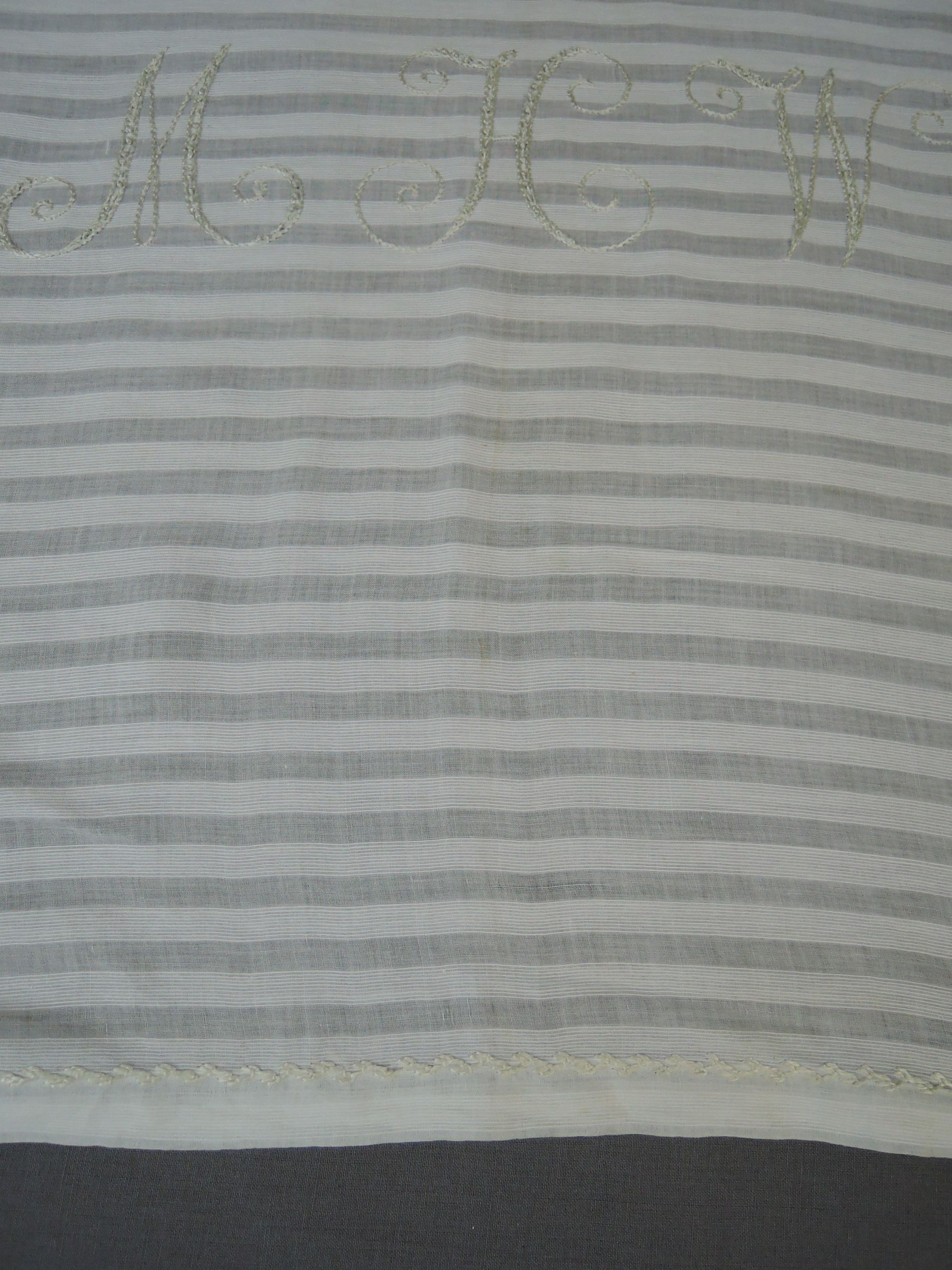 Vintage Embroidered Bed Linen, Monogrammed Daytime Pillow Cover or Dresser Scarf