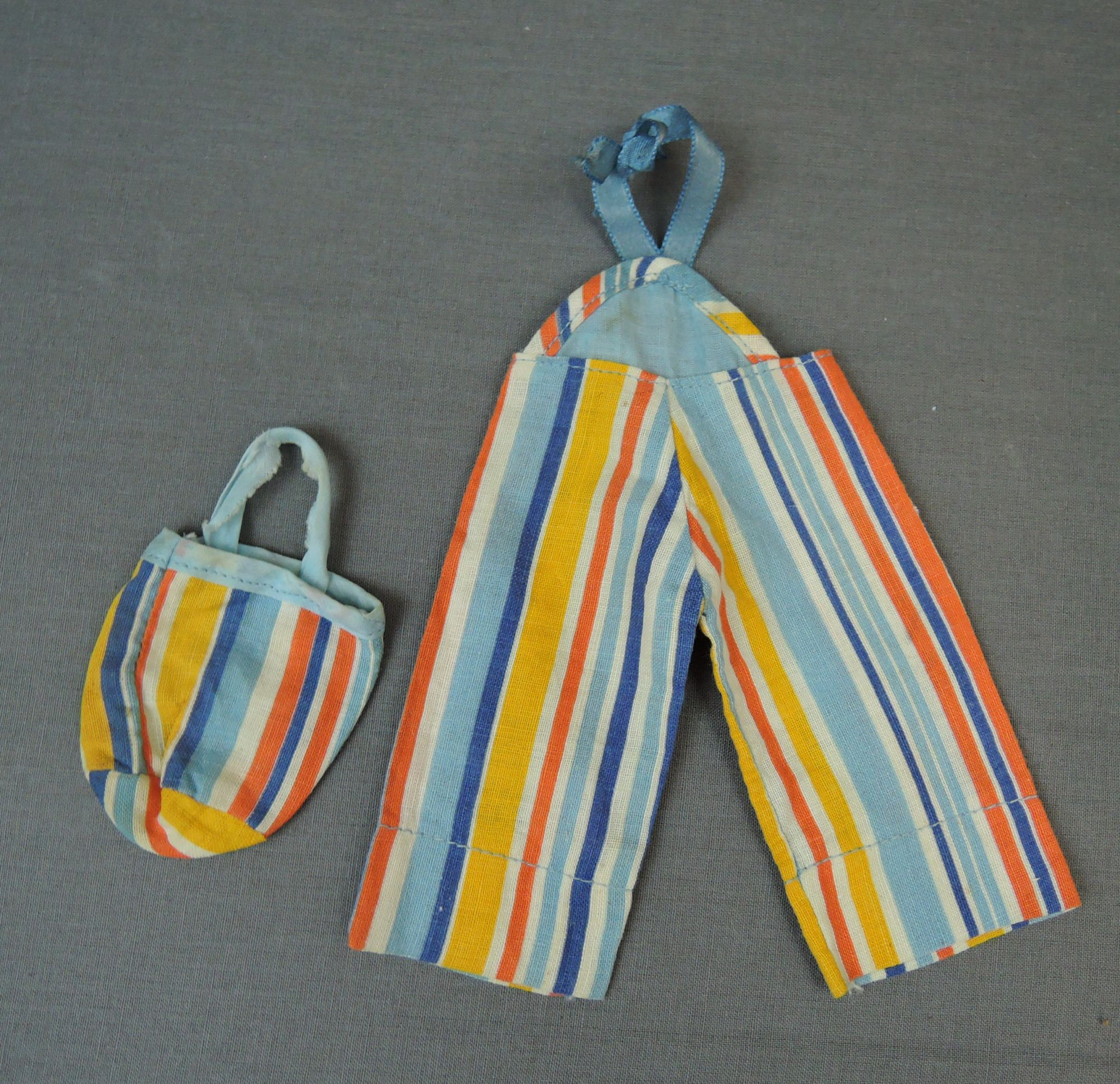 Vintage Doll Beach Pajamas & Purse and Romper, 1930s 1940s