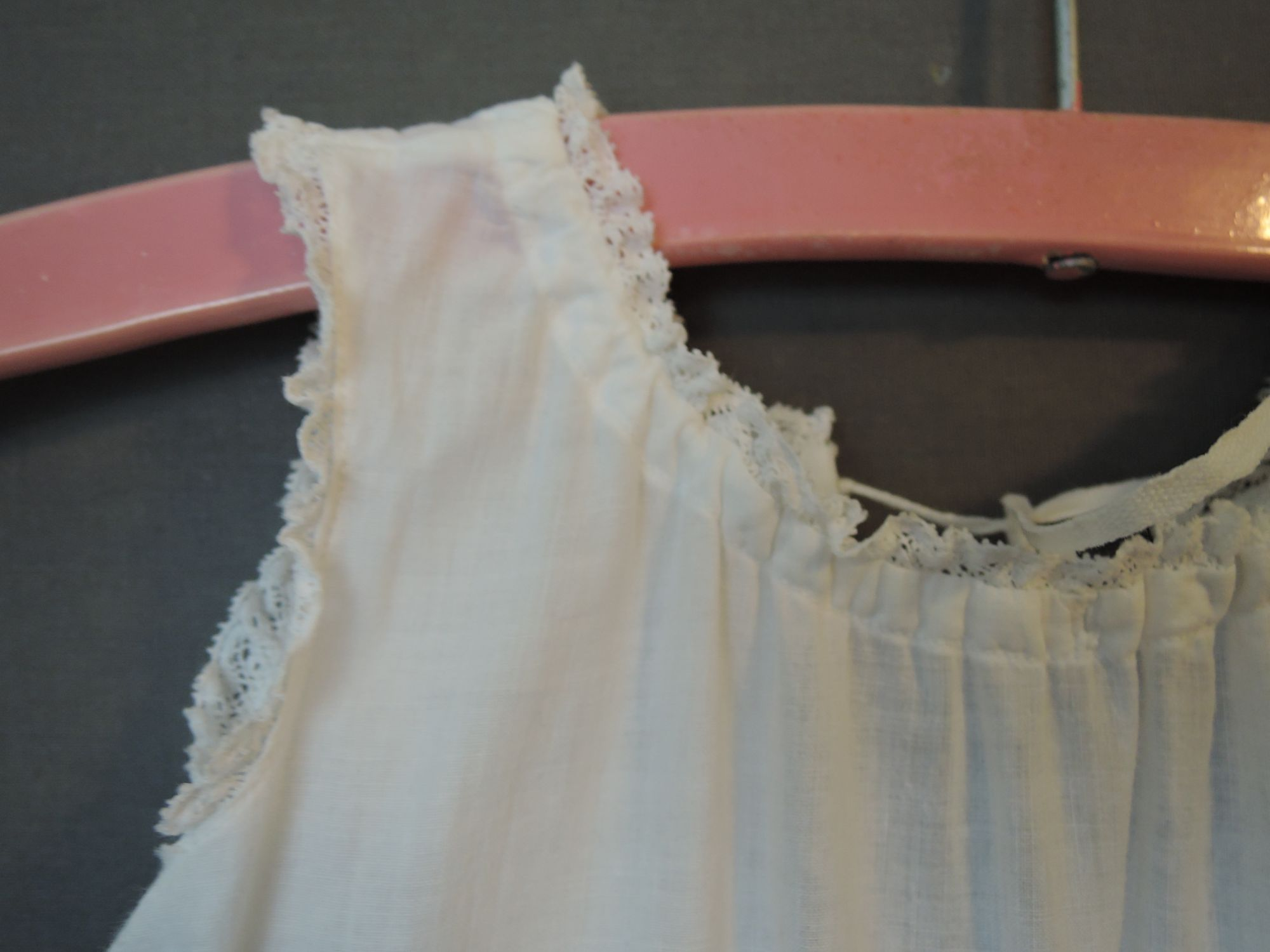 Antique Long Infant Slip, Early 1900s, 19 inch chest, 33 inches long, Cotton Baby Christening