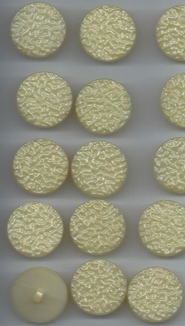 Vintage Set of 20 Yellow Plastic Buttons, 1960s