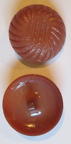 Vintage 2 Large Light Brown Plastic Coat Buttons, 1960s, 1-1/2 inch