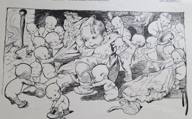 Rose O'Neill 'Kewpies and The Baby' page, February 1910