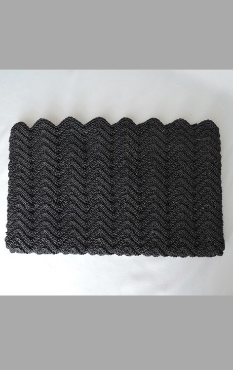 Vintage 1940s Black Corde Purse  - Outer Shell Only